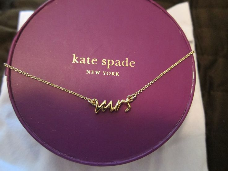 "Kate Spade,""Mrs"" necklace. Someone tell my future husband I want this for our wedding  :)"