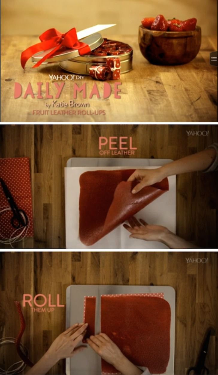 Yum! Did you know it only took 2 ingredients to make your own fruit leather roll-ups at home? Just