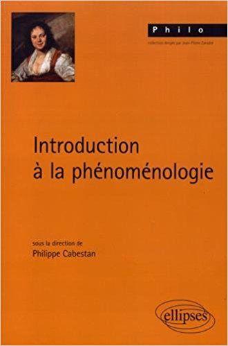 INTRODUCTION À LA PHÉNOMÉNOLOGIE - Philippe Cabestan