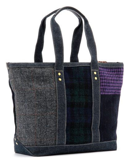 A pretty cool new tote bag comes out of a collaboration between Levi's Japan and Harris Tweed. Of course both denim fabrics and Harris Tweed fabrics are used on the bag, which comes with nice leather reinforced leather straps. The bag is now available from the e-Levi online store.