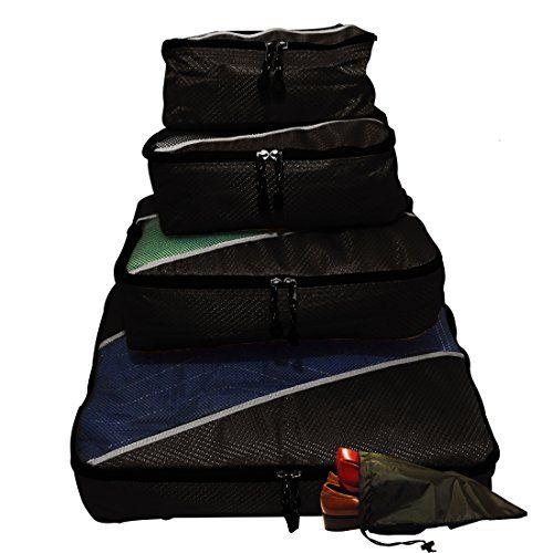 Evatex Packing Cubes   Travel Packing Cubes 4pc Eva-Black Set With Free ♥ Shoe bags   Packing Cubes for Travel   Packing Cubes Organizer ♥   Multi-Purpose Use, Packing Cubes Large,  Travel Organizer Bags   Travel Organizer Cubes  Packing Cubes Small, Cosmetic Bag   Travel Makeup Bag   Toiletry Bag   Men Travel Toiletry Bag   Toiletry Bag For Men   Toiletry Bag For Women   Toiletry Bag For Kids   Makeup Bag ...