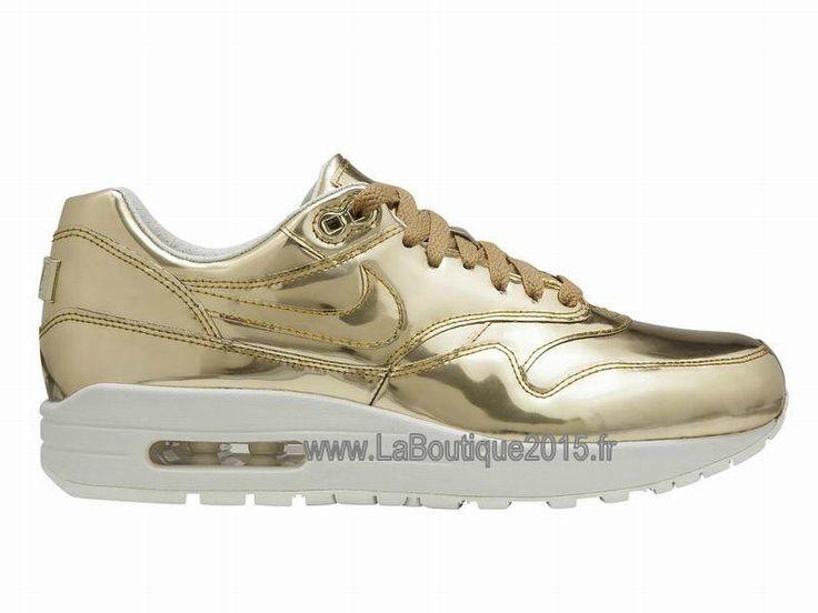 Nike Wmns AIR MAX 1 SP LIQUID METAL Chaussures Nike Basket Pour Femme GOLD 616170-700