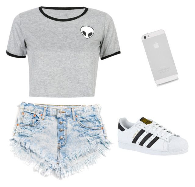 looks de verano by lidiasalazar on Polyvore featuring polyvore fashion style WithChic adidas clothing