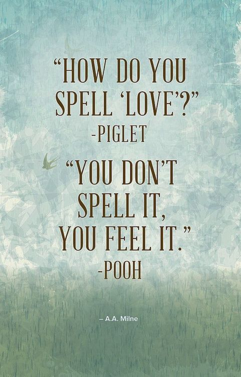 ღ you feel love - Piglet