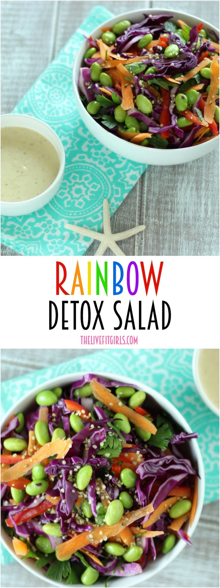 Need a little help getting back on track? This detox salad is made with a rainbow of raw veggies and sweet Tahini Dressing you will go crazy for!