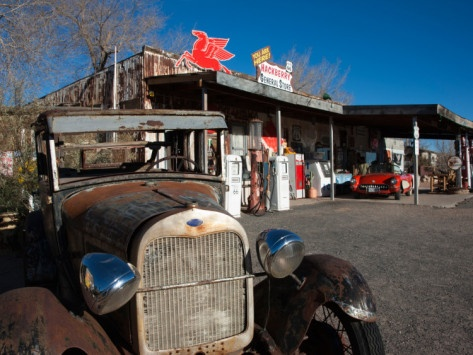 Rusty Car at Old Route 66 Visitor Centre, Route 66, Hackberry, Arizona, USA Photographic Print from AllPosters.com
