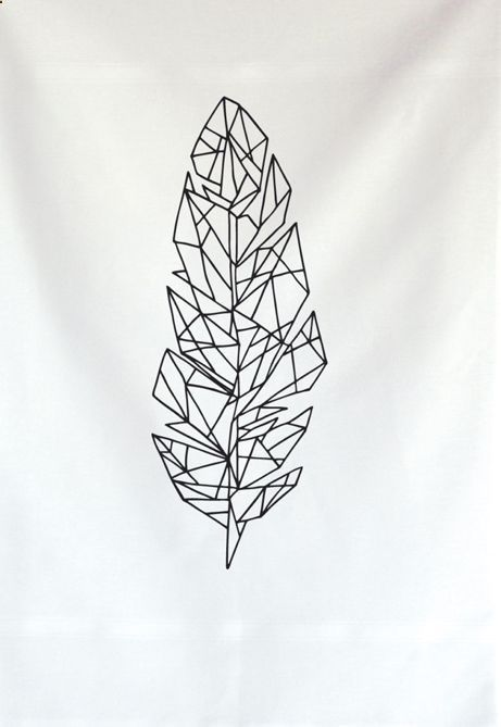 Tattoo - Idea - Draw - Illustration - Geometric - Feather - Line - Shape