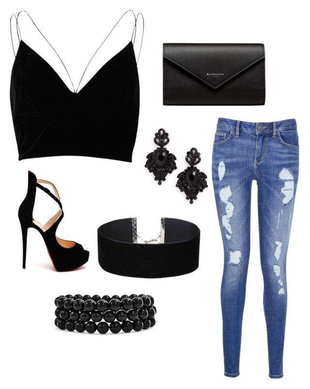 """""""Untitled #43"""" by parvanitagis on Polyvore featuring River Island, Tommy Hilfiger, Christian Louboutin, Balenciaga, Tasha, Bling Jewelry and Miss Selfridge"""