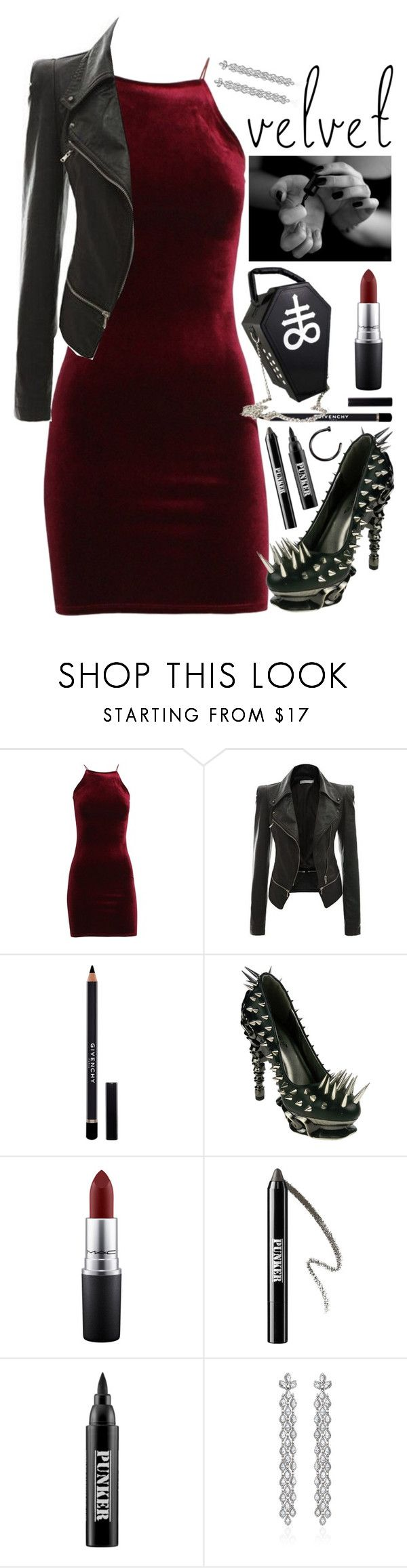 """553"" by anastaziah2014 ❤ liked on Polyvore featuring Givenchy, HADES, MAC Cosmetics, Ardency Inn and Bochic"