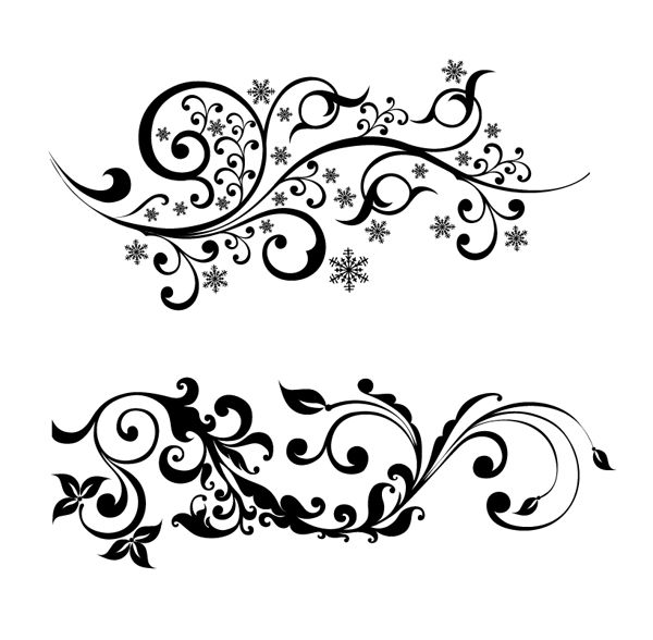 Roundup of Free Vintage Ornament & Floral Vectors