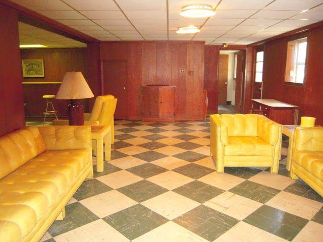 1950s retro original décor basement Petersburg Virginia