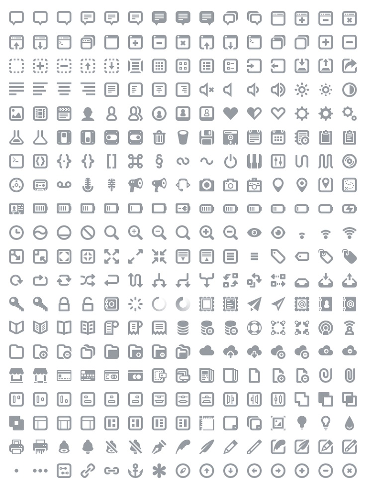 Batch: A lovingly designed and crafted suite of 300 icons for web and user interface design. #icon #vector #web #ui