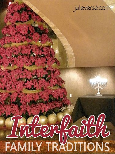 An interesting look at #interfaith family traditions. How to celebrate both, from @Julie Meyers Pron. #chrismukkah
