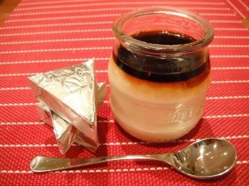 Flan de quesitos con caramelo para #Mycook http://www.mycook.es/receta/flan-de-quesitos-con-caramelo/