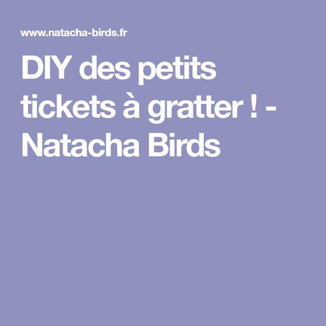 DIY des petits tickets à gratter ! - Natacha Birds
