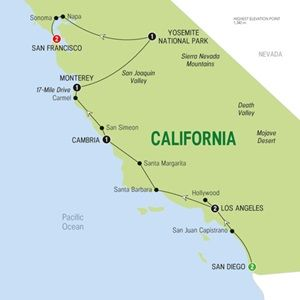 Map of The Californian with Rose Parade - Summer 2015
