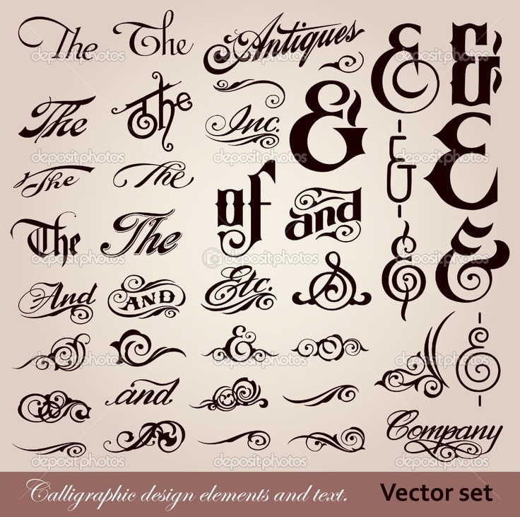 Calligraphy font vector font calligraphy design Calligraphy and sign