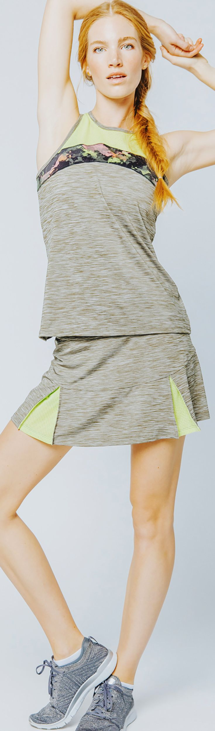 The Lija Carmel Horizon collection of premier women's tennis and training apparel offers great looking performance styles of skirts, tanks, and tennis outfits for your modern tennis look. Shop the collection at MidwestSports.com.