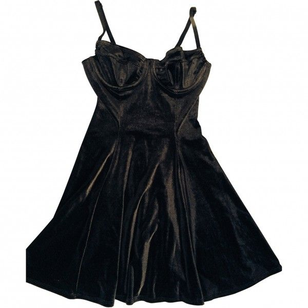AMERCAN APPAREL BUSTIER DRESS M AMERICAN APPAREL (10.125 CLP) ❤ liked on Polyvore featuring dresses, american apparel, black bustier, bustier dress, black cocktail dresses and black dress
