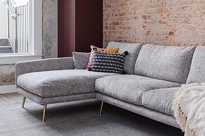 Amazon Com Edloe Finch Modern Sectional Sofa Left Facing Chaise