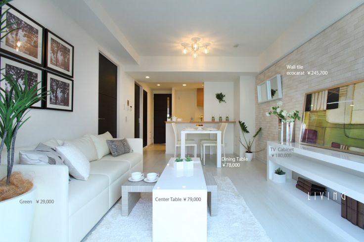 インテリア】同棲に必要な家具一覧や配置方法と写真例 白を基調としたリビング