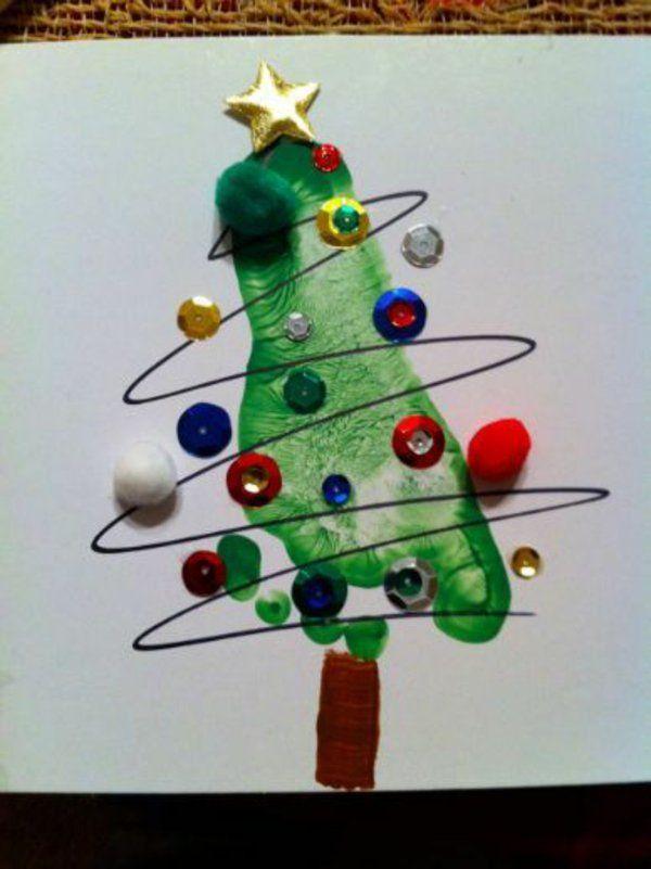 Schöne girlanden kugel Weihnachtskarten selber basteln design