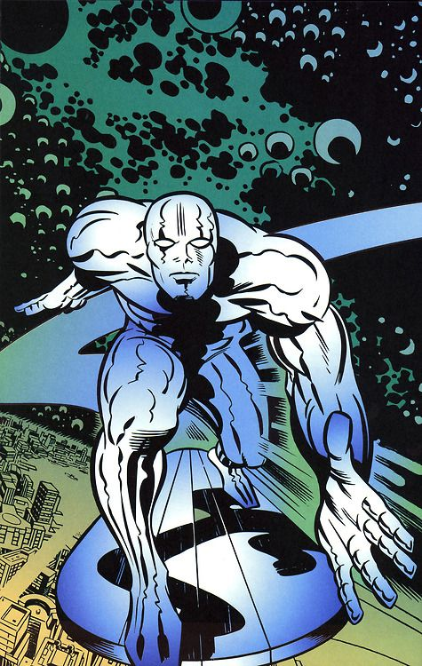 The Silver Surfer by Jack Kirby.