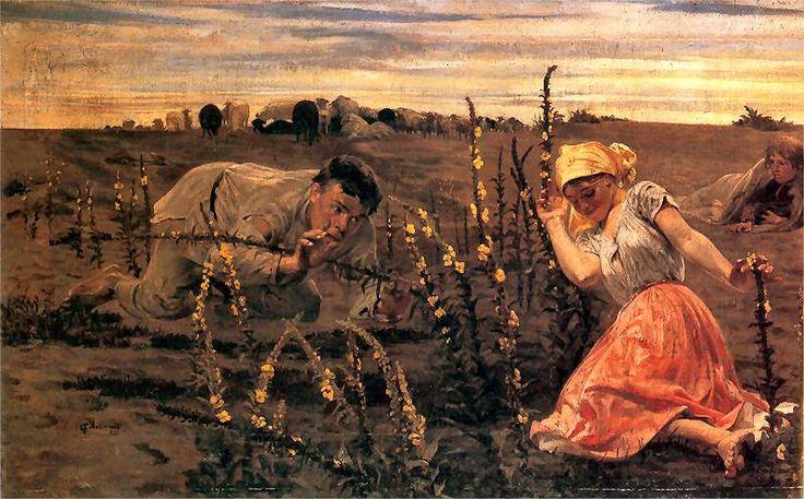 Jacek Malczewski - Opętany (cykl Rusałki) fragment, 1887