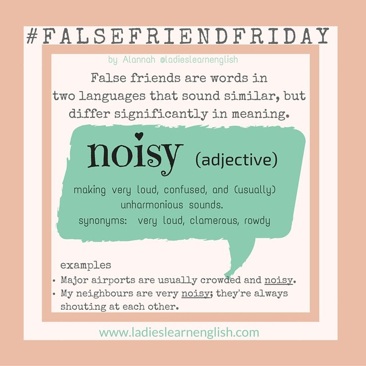 13 best false friends images on pinterest fair weather friends this false friend is confusing because the italian word noioso means stopboris Image collections