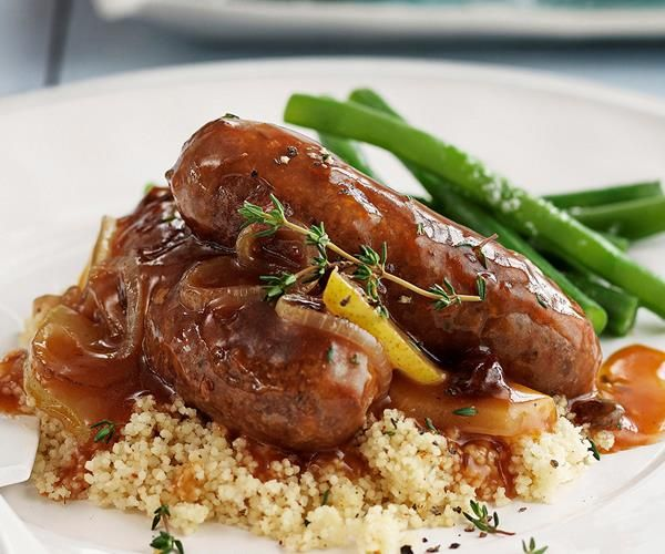 This old fashioned devilled sausages recipe from Australian Women's Weekly is great served with rice, couscous or mash. The sauce includes pear.