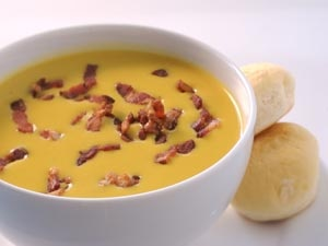 Image of Roasted Butternut Squash Soup With Smoky Bacon from The Food Channel