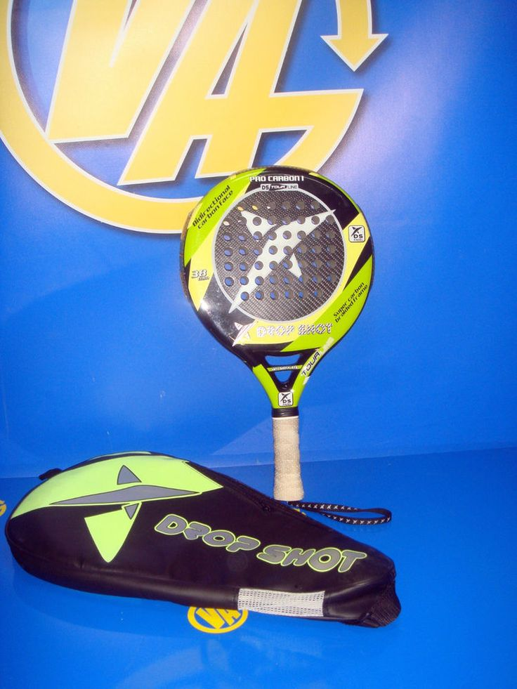 Pala de padel DROP SHOT DS padel raqueta 38 mm. 360-390 gr. muy buen estado
