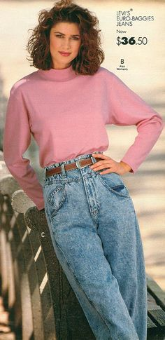 Levi's Denim Jeans from a 1989 catalog #vintage #fashion #1980s