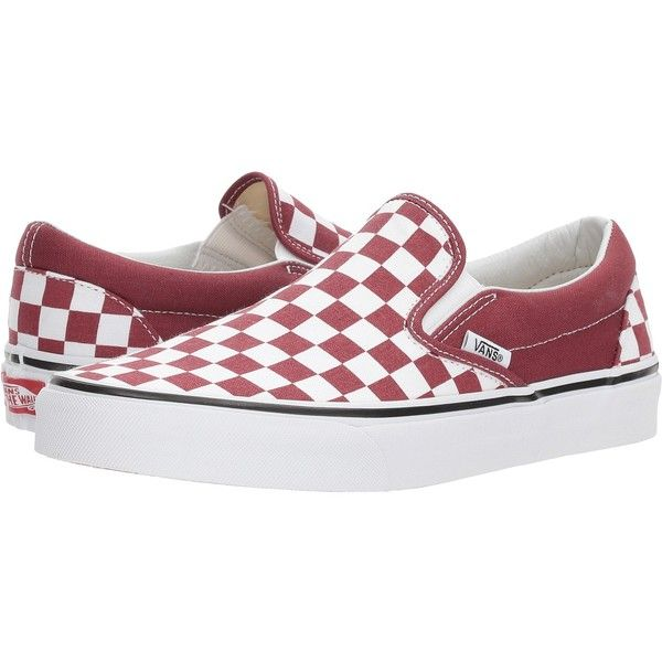 2ff78505f5 Vans Classic Slip-Ontm ((Checkerboard) Apple Butter True White) Skate...  ( 50) ❤ liked on Polyvore featuring shoes