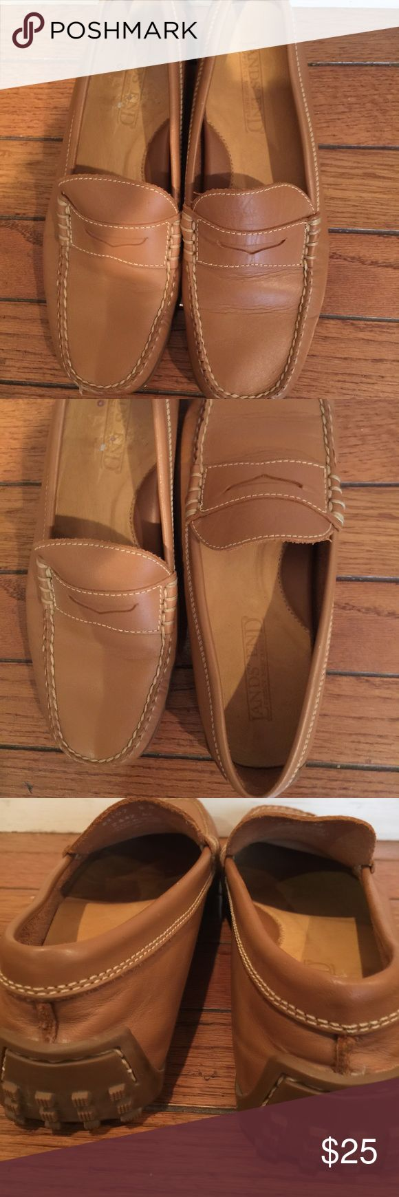 Land's End loafers. Land's End tan loafers. land's End Shoes Flats & Loafers