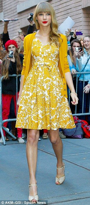 Double whammy: Taylor Swift looked great wearing two bright ensembles in New York on Monday