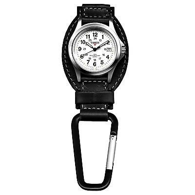 Key Ring Watches 173699: Dakota Watch Company Field Clip Hanger Watch Black Leather Water Resistant -> BUY IT NOW ONLY: $37.4 on eBay!