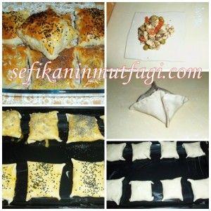 Talaş Böreği(tavuklu) #turkishrecipe #börek #hamur #hamurişi #recipes http://sefikaninmutfagi.com/talas-boregitavuklu/