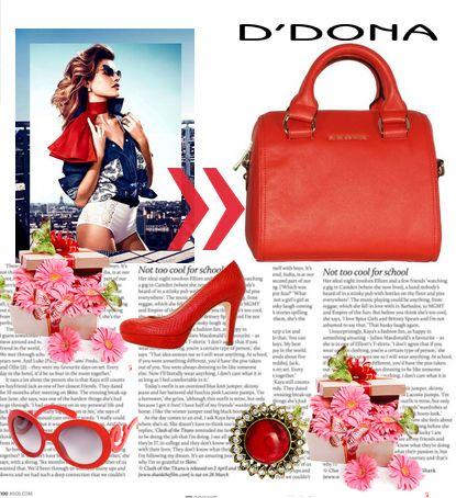 """""""rojo que te quiero rojo"""" bolso rojo primavera-verano 2013 #ddona #clenapal"""