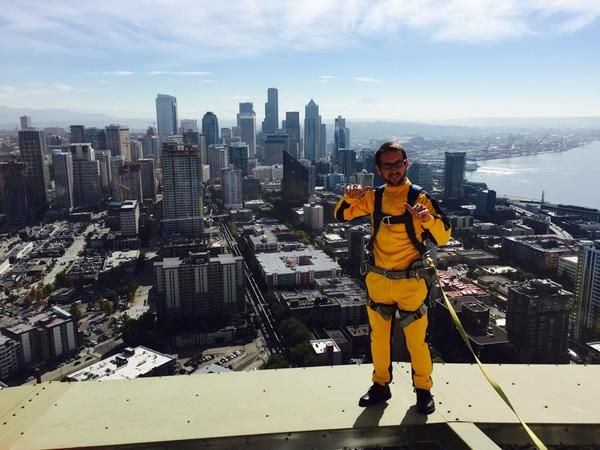 The Space Needle had a jumpsuit displayed over this beautiful city that we (and Bruce) call home.