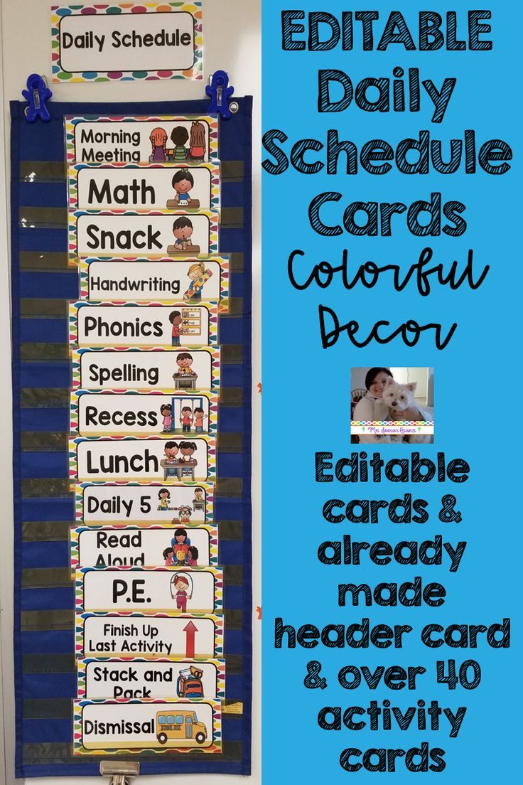 EDITABLE Daily Schedule Cards- Colorful Dots   ***TpT Great Products ...
