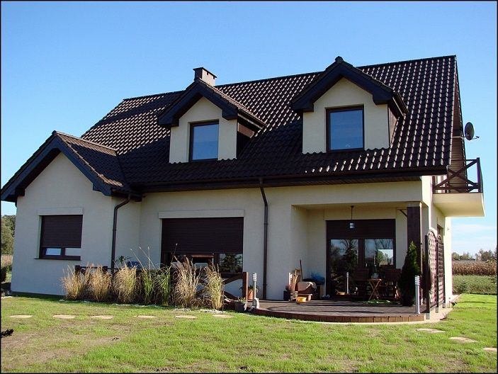 Taras projektu Cukiereczek  #ogród #taras #dom
