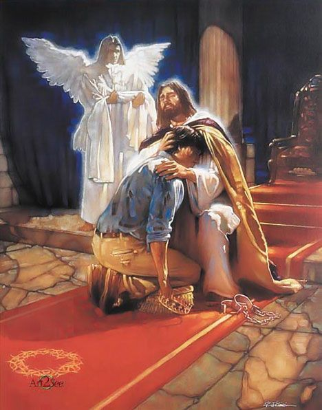 Jesus, he meets us wherever we are and is waiting to embrace us