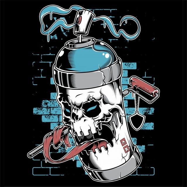 Spray Paint Skull Face Graffiti Cartoon Character Cartoon Graffiti Art Png And Vector With Transparent Background For Free Download Graffiti Cartoons Skull Painting Graffiti