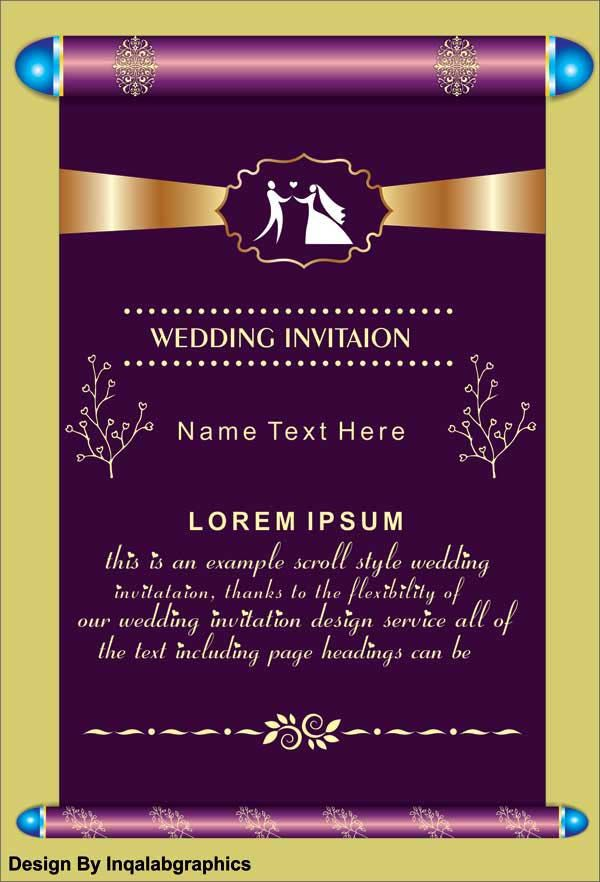 Wedding Invitation Templates Free Vector Cdr File Wedding Invitation Sample Download Wedding Invitation Samples Vector Free Wedding Invitations