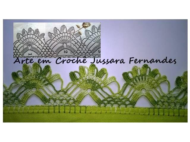 Achei estes barrados no Facebook Arte em Crochê Jussara Fernandes