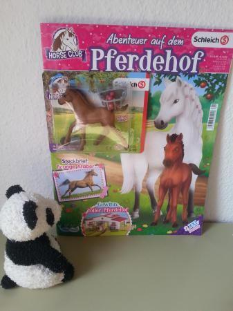 erste Ausgabe von Abenteuer auf dem Pferdehof, Fohlen, Pferd, Zeitschrift, Schleich