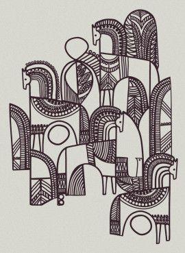 <span>Personal Work</span>Wild Horses - Linear Print