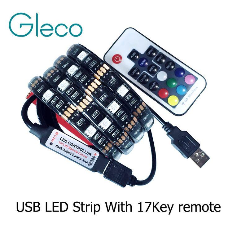 Dc5v usb ledストリップ5050 rgb柔軟なライト1メートル2メートルテレビ背景照明rgb ledストリップ粘着テープip20/ip65防水
