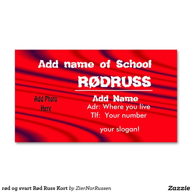 rød og svart Rød Russ Kort Double-Sided Standard Business Cards (Pack Of 100)
